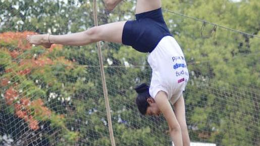 क्रीडा दिन : नाशिकच्या खेळाडूंनी गाजवला मल्लखंब