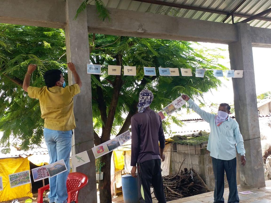 When teachers paint lessons on village walls