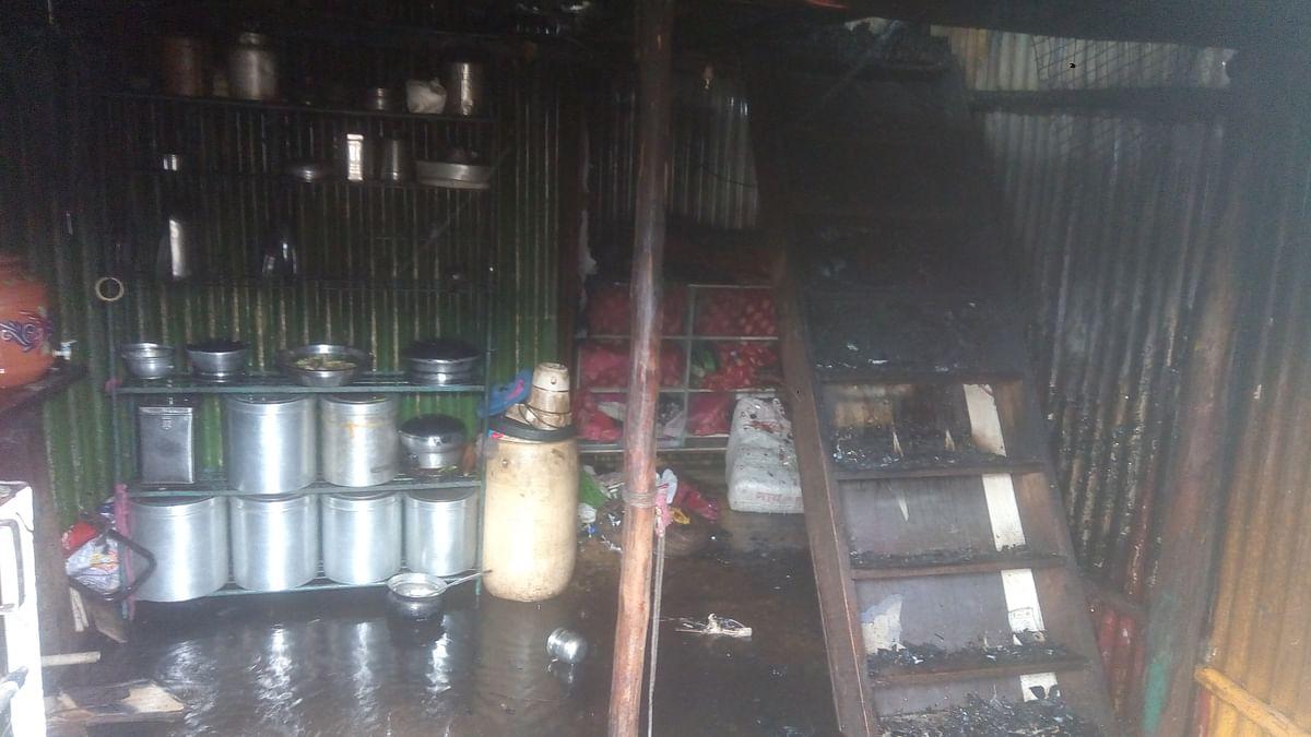 पंचवटी परिसरातील गौडवाडी येथील  झोपड्यांना आग