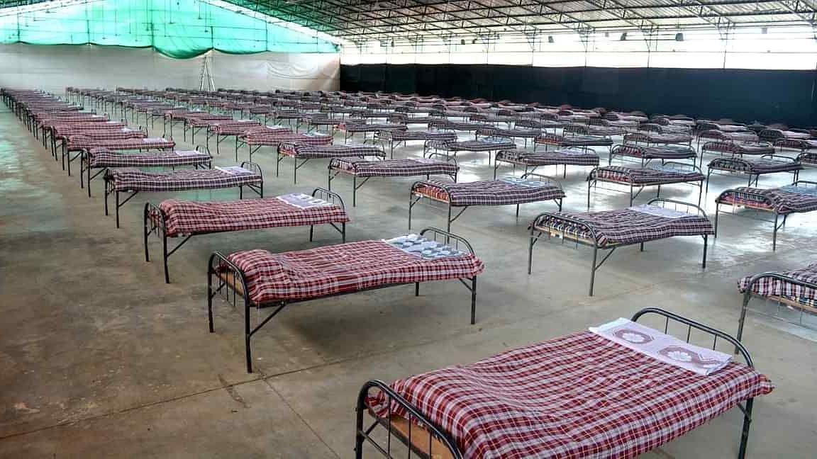 Covid care centre at Thakkar's Dome