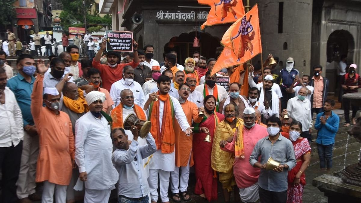Protest for reopening of temples, shrines