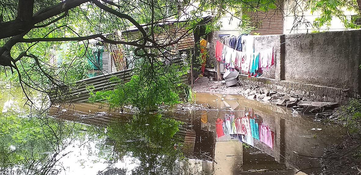 रुईत 17 आदिवासी कुटुंबांच्या घरात पाणी