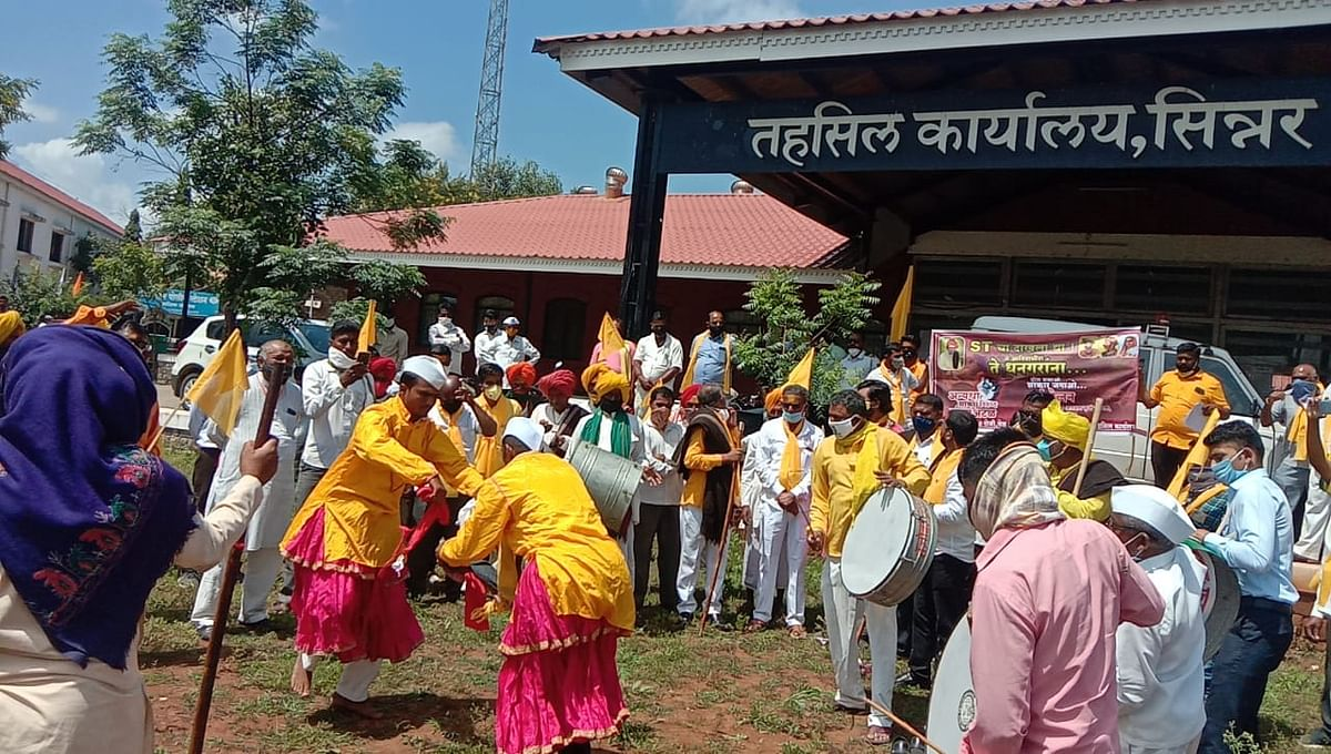 सिन्नर : आरक्षणासाठी धनगर समाजाचा तहसीलवर मोर्चा