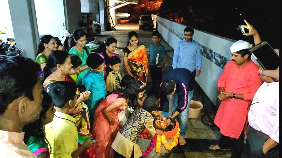Ganesh Visarjan 2020 : Household idol immersion hogs limelight