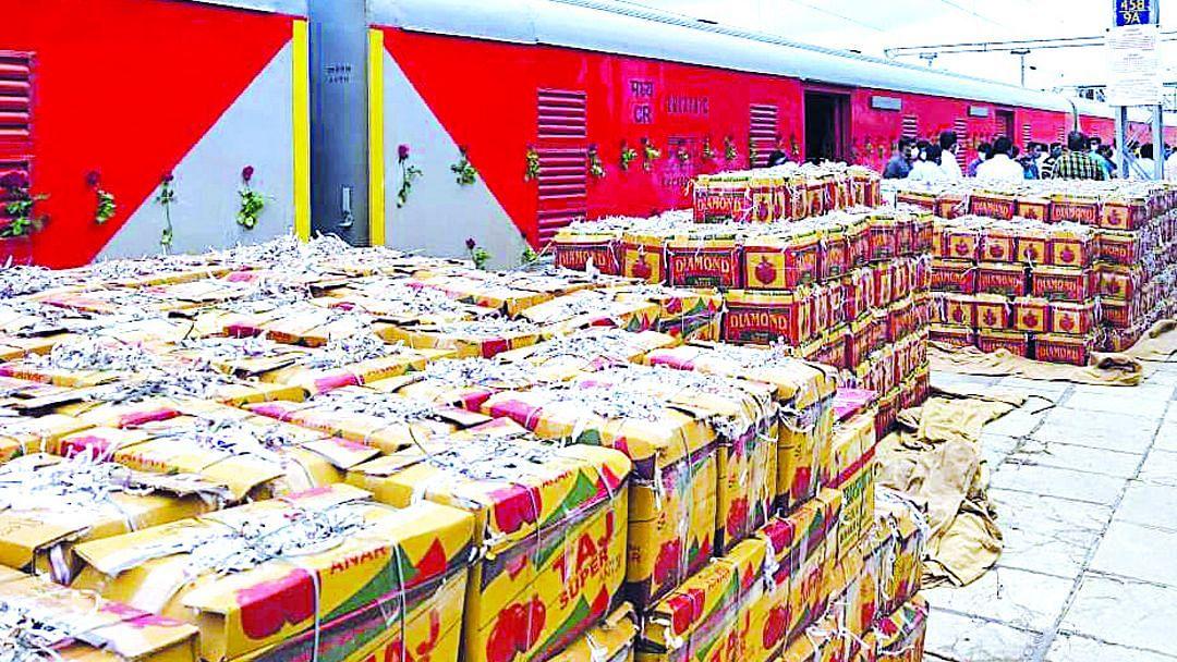 देवळाली किसान रेलची १७ हजार टन वाहतूक