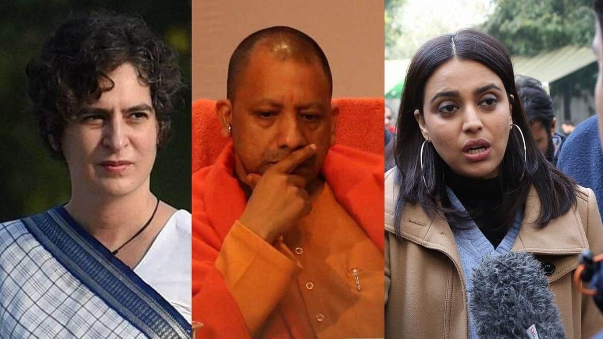 प्रियंका गांधी, स्वरा भास्कर यांनी मुख्यमंत्री योगींच्या राजीनाम्याची केली मागणी