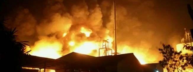 दौंड - कुरकुंभ येथील शिवशक्ती ऑक्सीलेट  कंपनीत भीषण आग