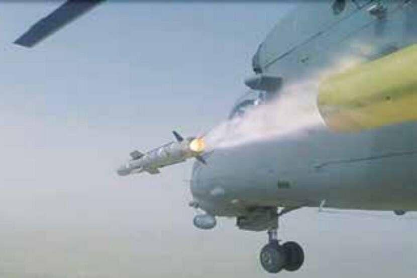 MI-35 हेलिकॉप्टरवरुन SANT क्षेपणास्त्राची यशस्वी चाचणी