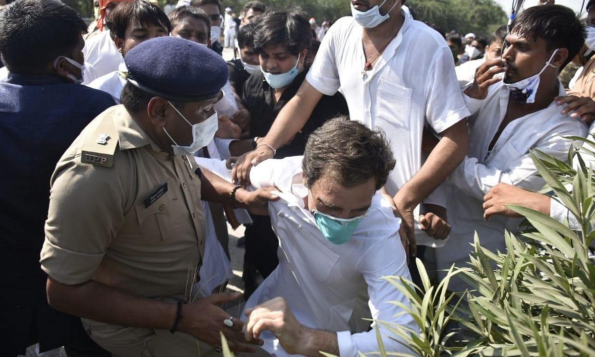 राहुल गांधींना धक्काबुक्की; विविध राजकीय पक्षाच्या नेत्यांकडून तीव्र प्रतिक्रिया