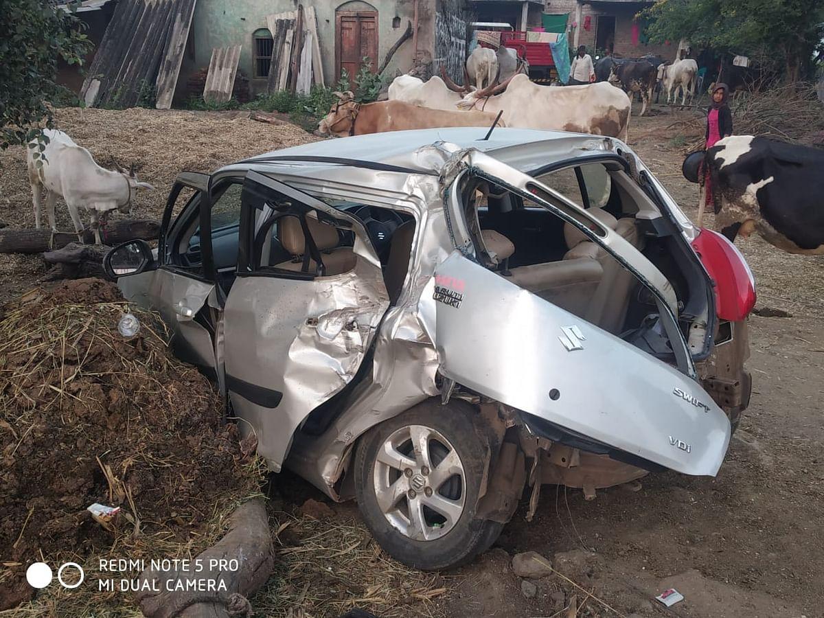 कारच्या अपघातात तीन जण ठार