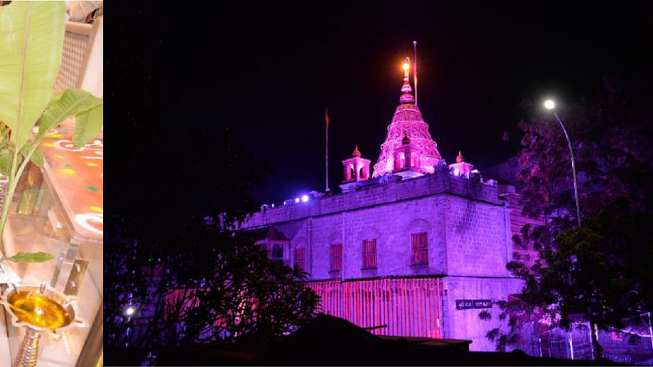 दीपावलीनिमित्त साई मंदिराला आकर्षक विद्युत रोषणाई