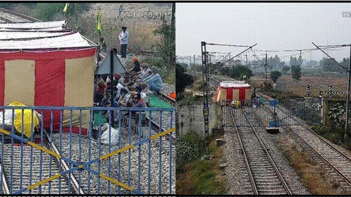 कृषी कायद्यांविरोधात पंजाबमध्ये निदर्शने सुरूच, रेल्वेला १२०० कोटी रुपयांचे नुकसान