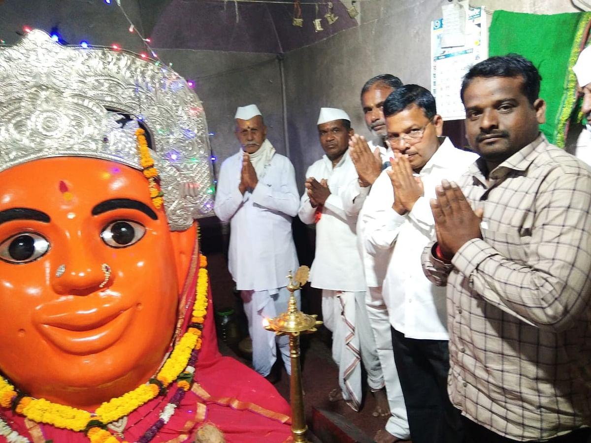 शेवगाव : भाविनिमगाव जगदंबा माता मंदिर खुले