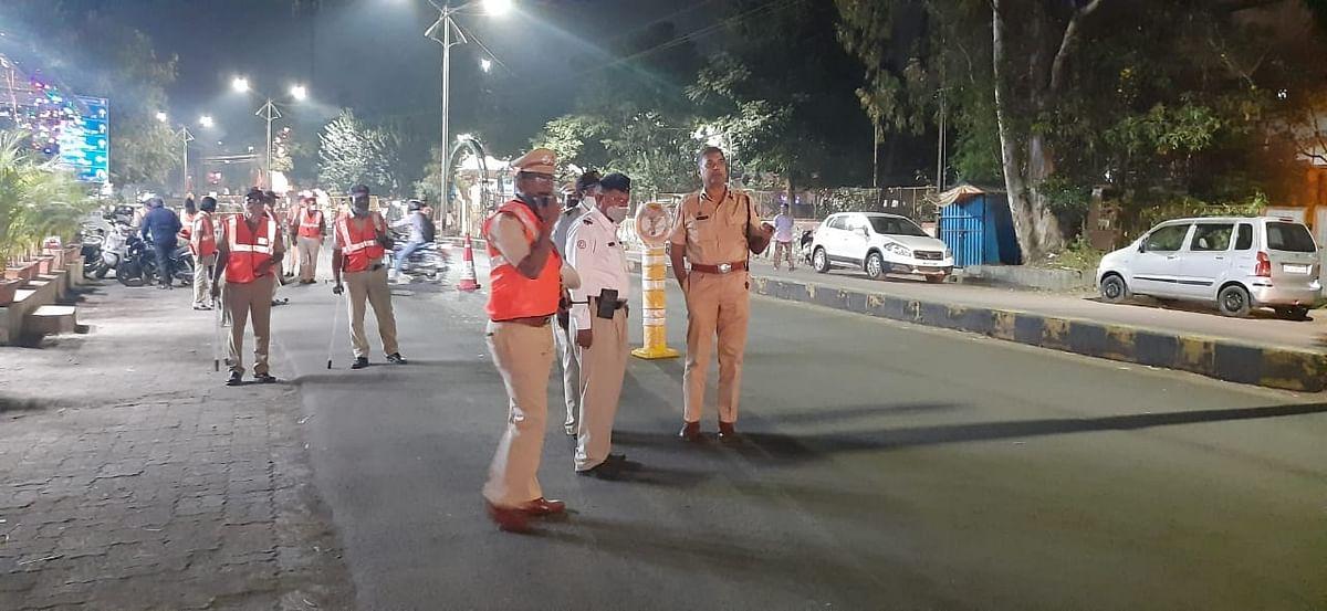 शहरात नाकाबंदी, कडेकोट पोलीस बंदोबस्त