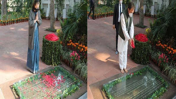 Sonia, Rahul pay tributes to former PM Indira Gandhi