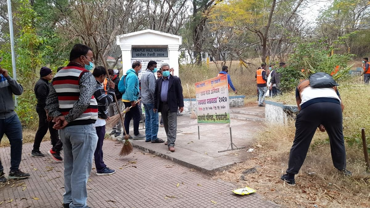 Temple hill cleaned by Cantonment board