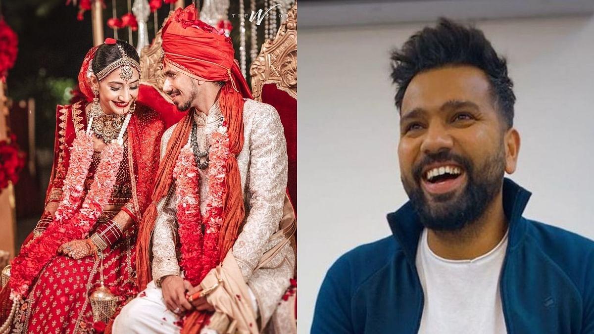 रोहित शर्माने युजवेंद्र चहल'ला दिल्या लग्नाच्या हटके शुभेच्छा, म्हणाला..