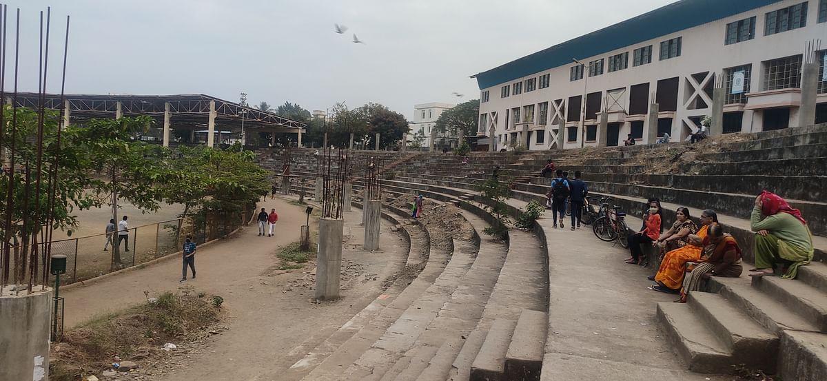 Raje Sambhaji Stadium: Infrastructural work slows down