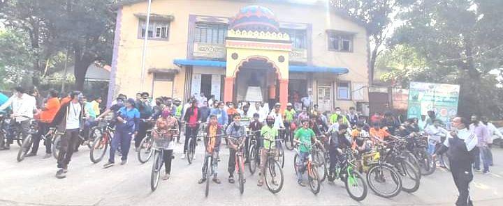 'इगतपुरीत माझी वसुंधरा' अभियाना अंतर्गत सायकल रॅलीचे आयोजन