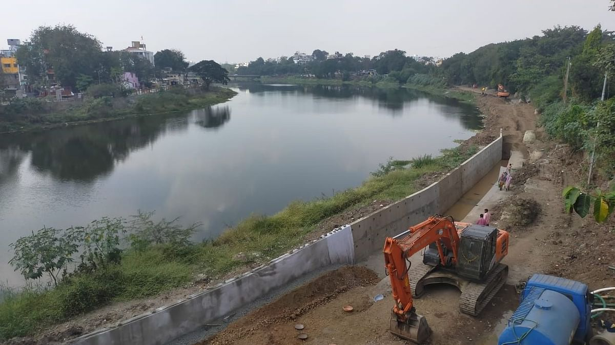 Environmentalists raise objection over cement wall in Godavari