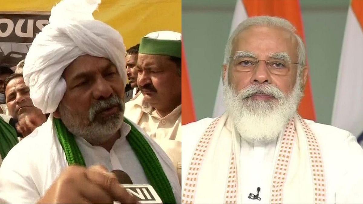 तिरंग्याचा अपमान करणाऱ्यांना पकडा; राकेश टिकैत यांचा पंतप्रधानांवर पलटवार