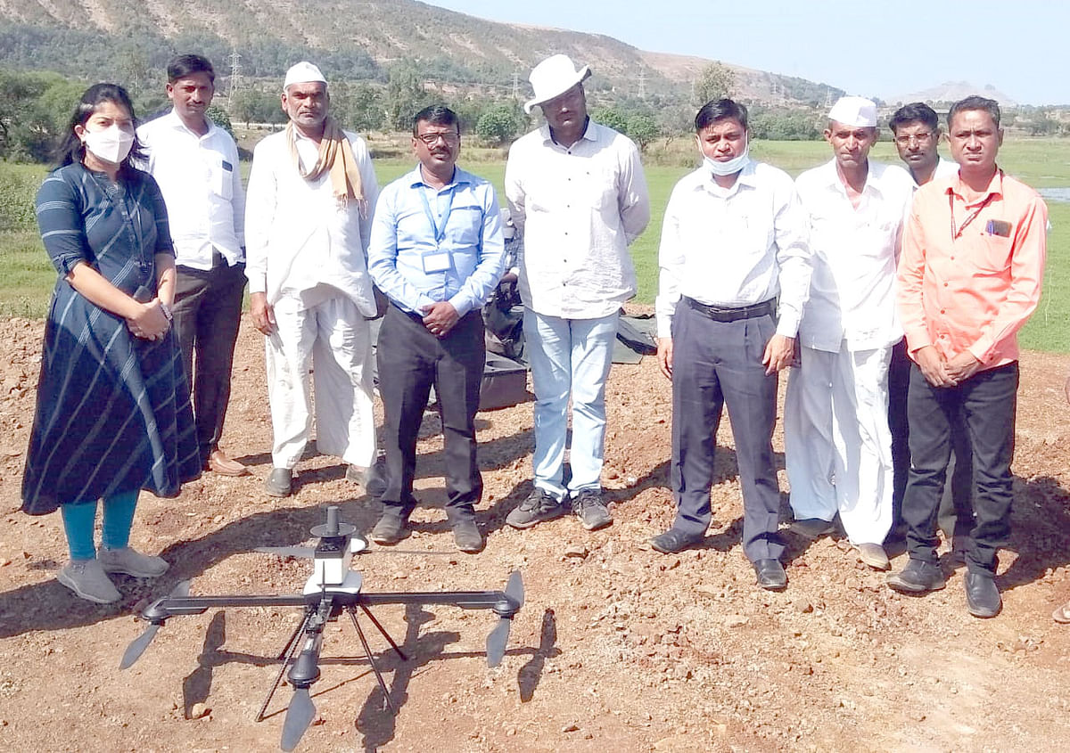 Gaothan counting by drone in Igatpuri
