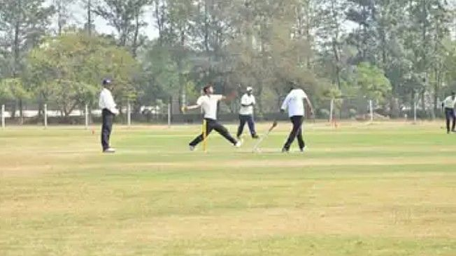 Selection trial for Nashik District Cricket Team