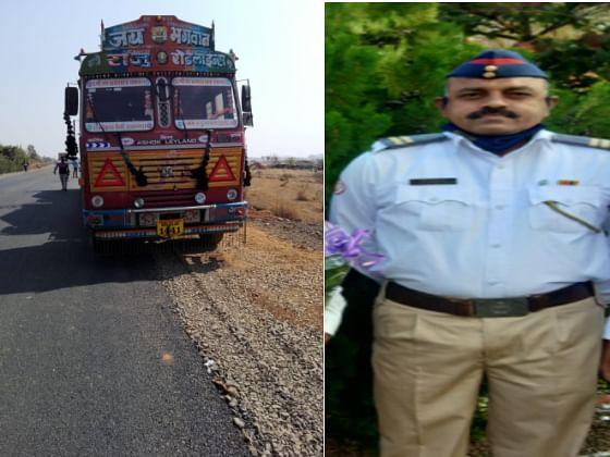 वाहतुक सुरक्षा सप्ताहात विघ्न; भरधाव ट्रकने पोलिसाला चिरडले