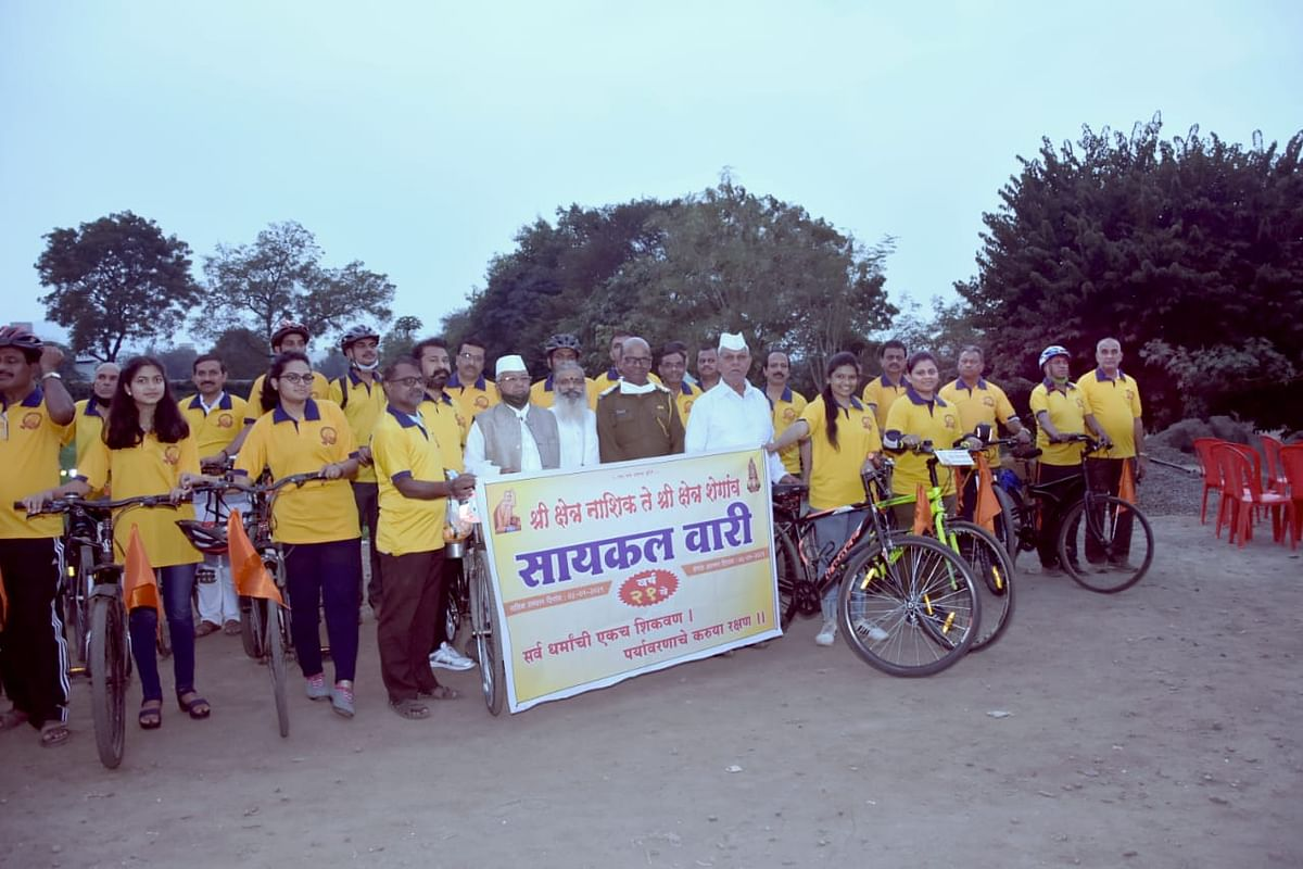 Warkaries embark on journey from Nashik to Shegaon