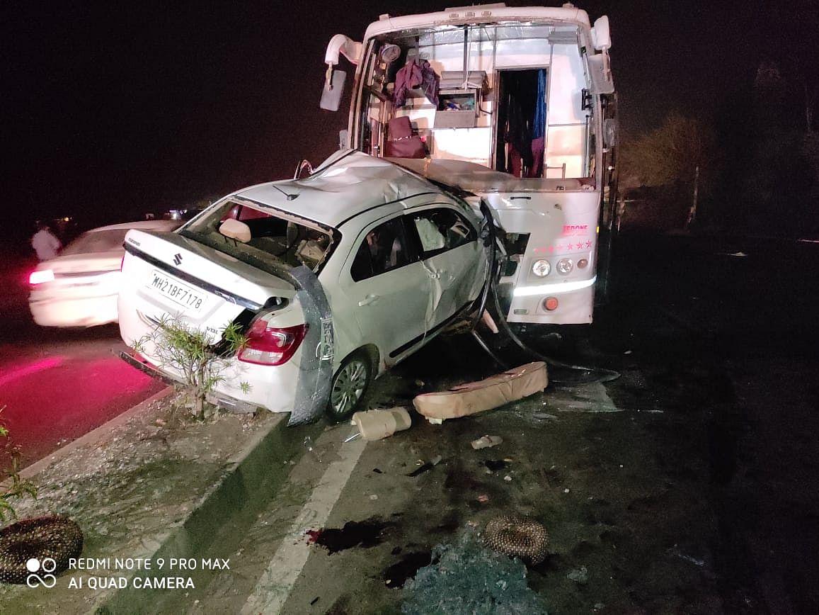 नगर-औरंगाबाद महामार्गावर भीषण अपघात
