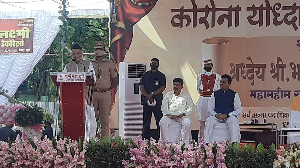 Video धुळे : राज्यपाल भगत सिंह कोश्यारी यांनी केले कोरोना योध्दांचे अभिनंदन
