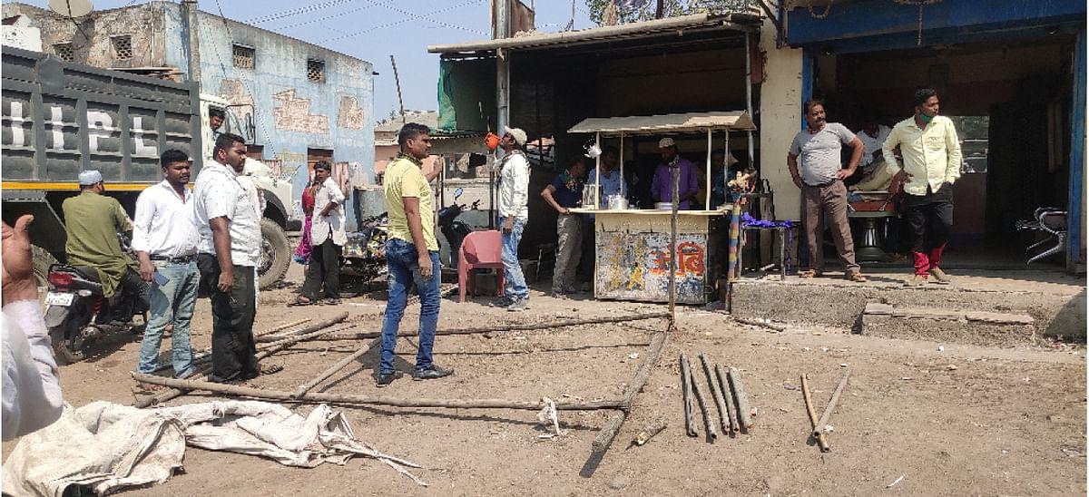 श्रीरामपुरात पालिकेने राबविली अतिक्रमण मोहीम