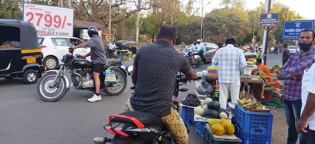 Traffic congestion at Lam Road