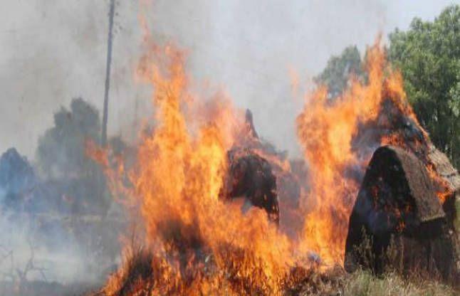 अचानक लागलेल्या आगीत ऊस तोडणी कामगारांच्या झोपड्या भस्मसात
