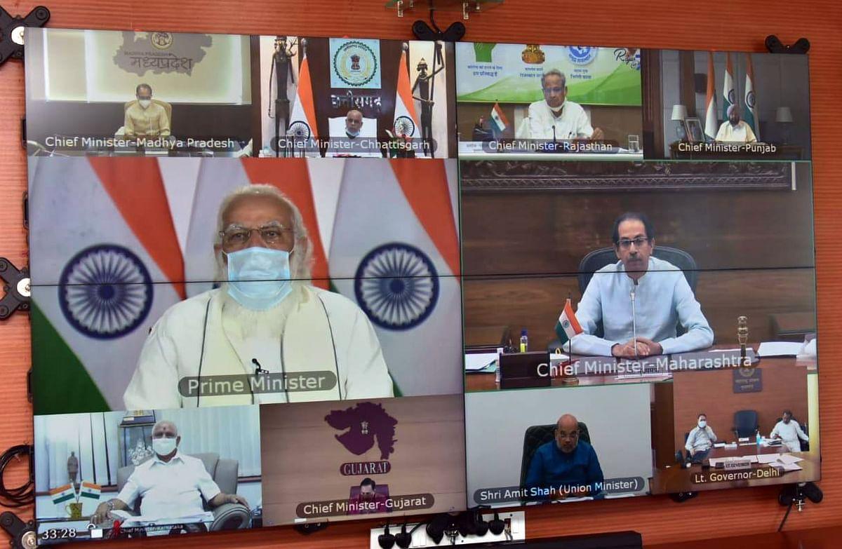 करोना : पंतप्रधानांची दहा मुख्यमंत्र्यांसोबत बैठक ; उद्धव ठाकरे म्हणाले...