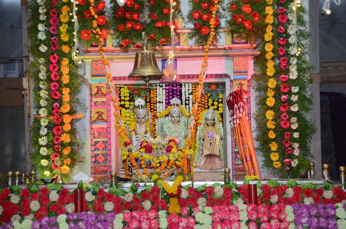 श्रीरामपुरात श्रीराम जन्मोत्सव साध्या पध्दतीने भक्ताविना साजरा