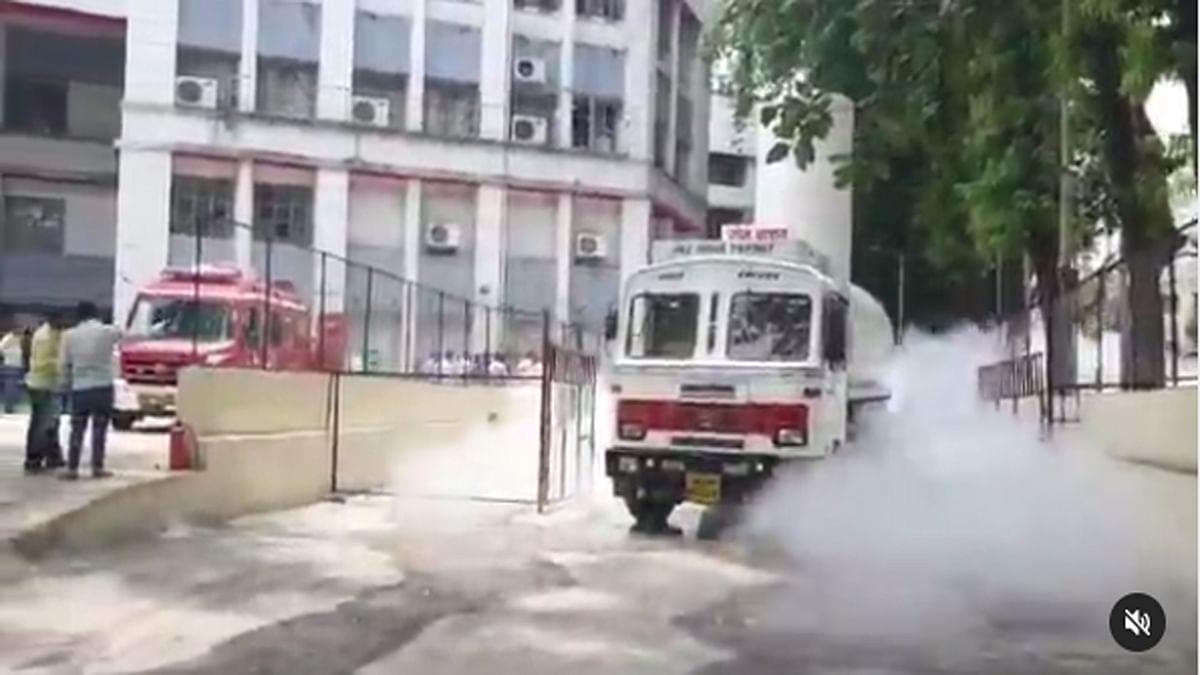 Video : ऑक्सिजन गळतीचे सीसीटीव्ही फुटेज; पाहा काही सेकंदात झाले होत्याचे नव्हते...