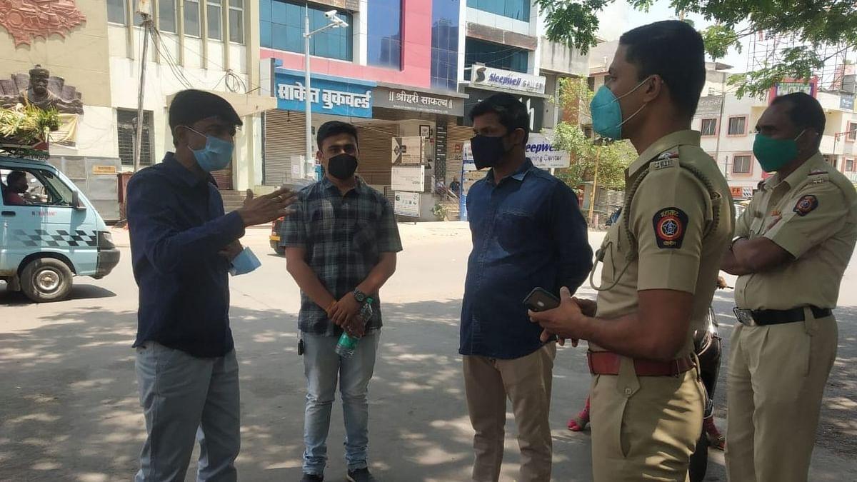 Video भाजप आमदार भडकले ; पोलिसांशी घातली हुज्जत