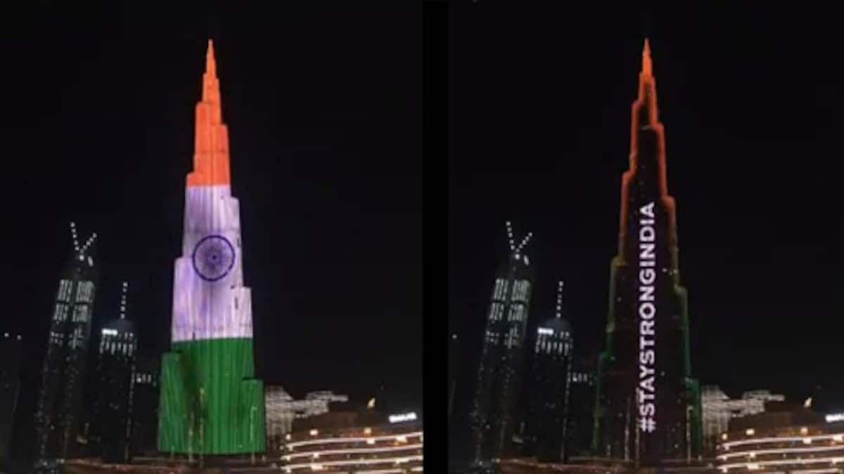 तिरंगाच्या रंगात रंगला दुबईचा 'बुर्ज खलिफा', पाहा व्हिडिओ