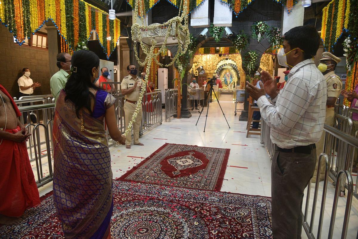 शिर्डीतील रामनवमी उत्सव भक्ताविना साध्या पद्धतीने साजरा