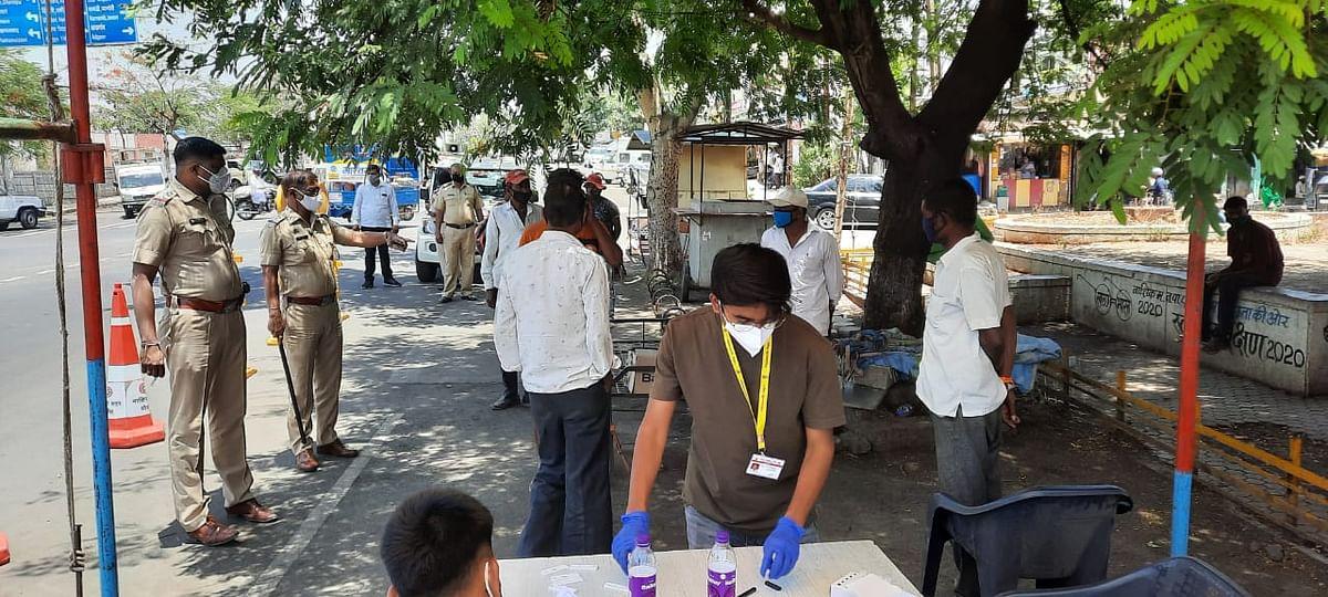 म्हसरूळ पोलिसांकडून ११६ रॅपिड टेस्ट