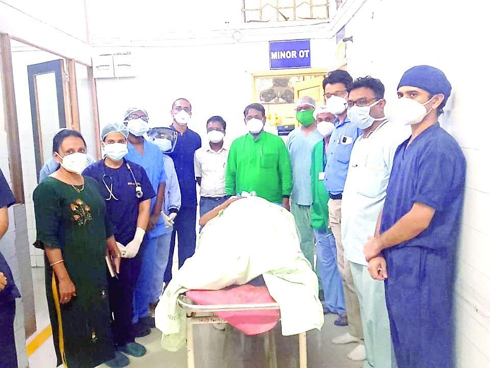 जिल्हा रुग्णालयात म्युकोरमायकोसिसवर पहिली शस्त्रक्रिया