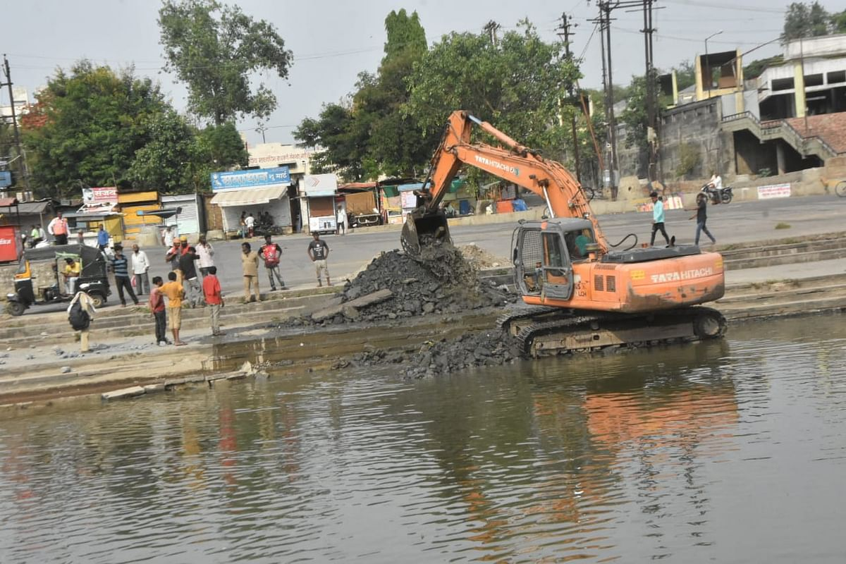 Pre-monsoon cleanliness drive at Godaghat