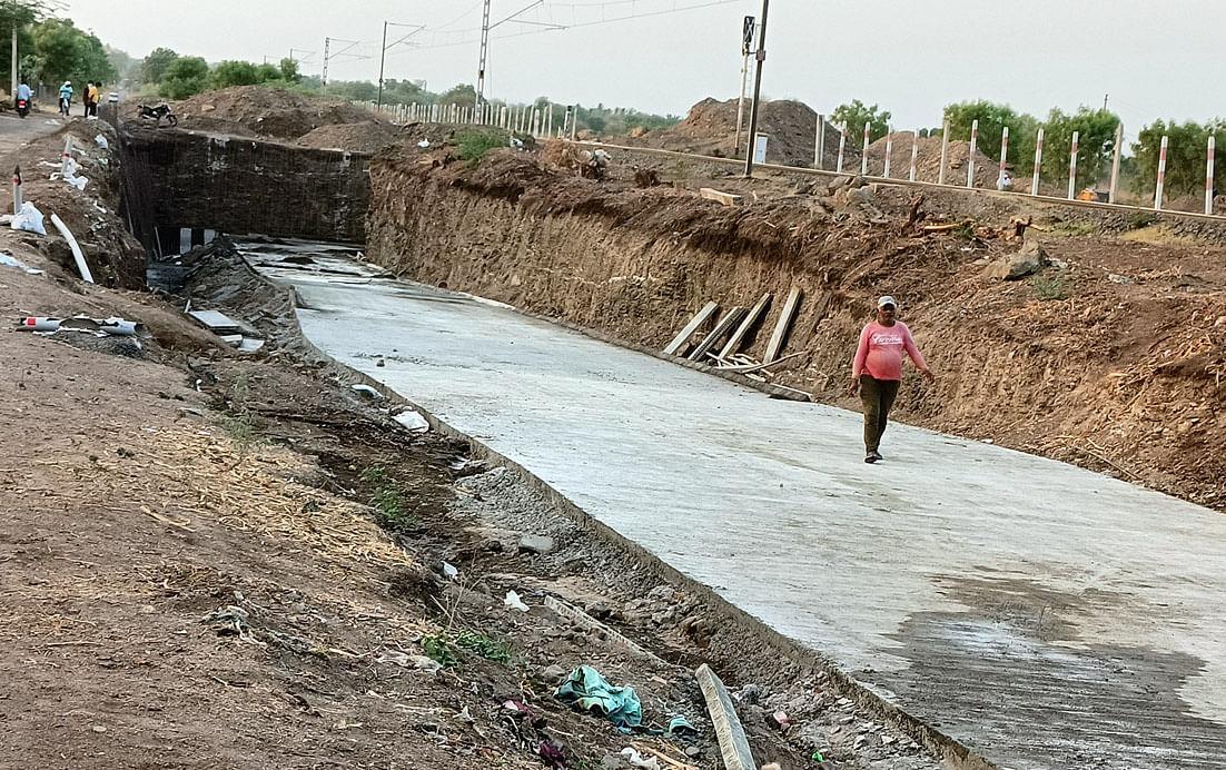 चांगदेवनगर रेल्वे भुयारी पुलाचे काम अंतिम टप्प्यात