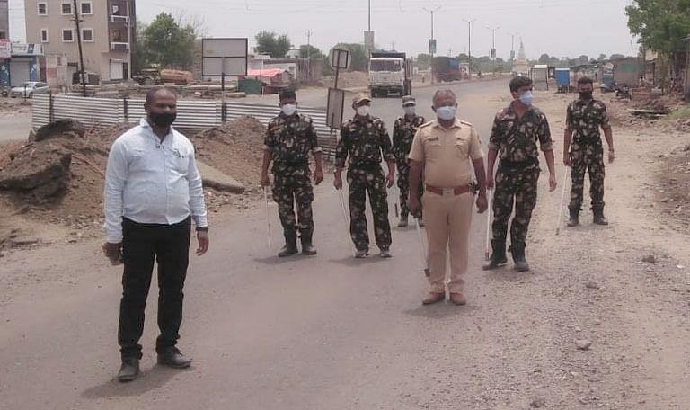 वावी पोलिस ठाणे अंतर्गत दंगल नियंत्रण पथकाची नियुक्ती