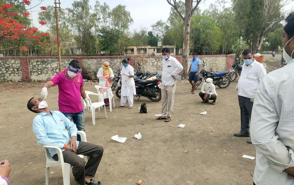 रांजणगाव खुर्दमध्ये 40 जणांची करोना रॅपिड टेस्ट