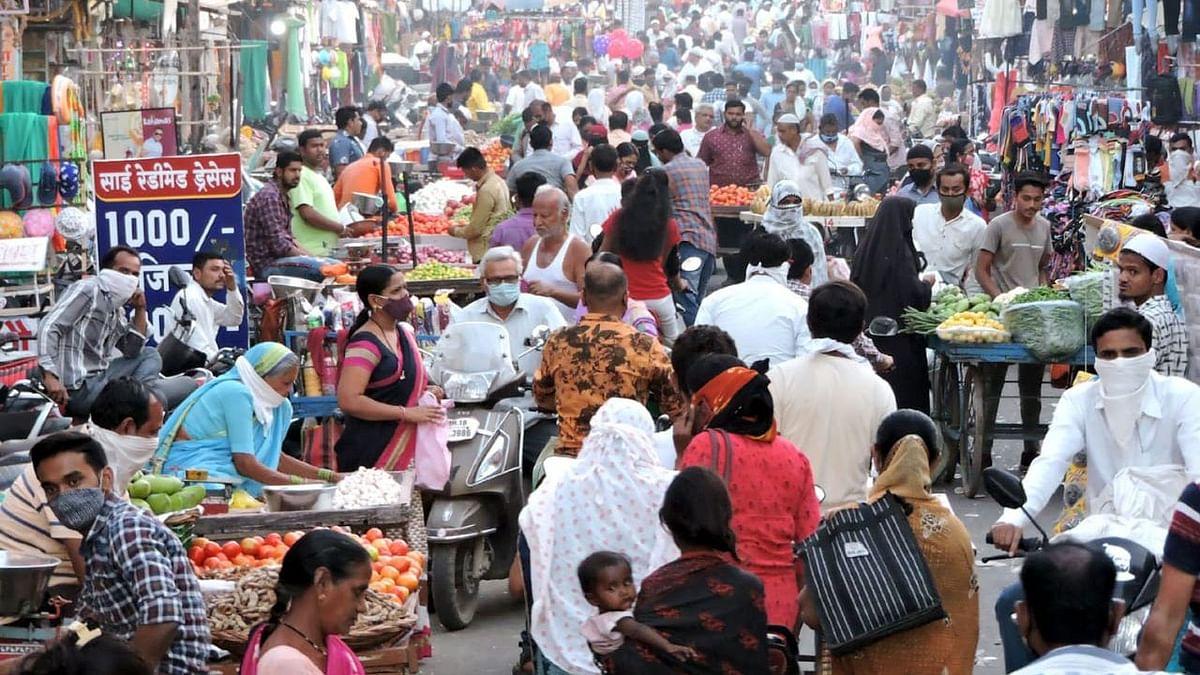 Photo अनलॉकनंतर बाजारपेठेत उसळली गर्दी