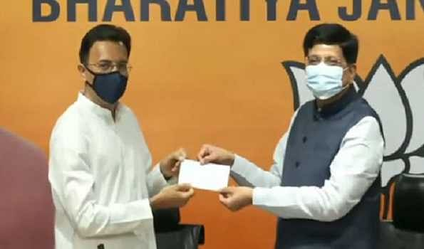 Cong leader Jitin Prasada joins BJP