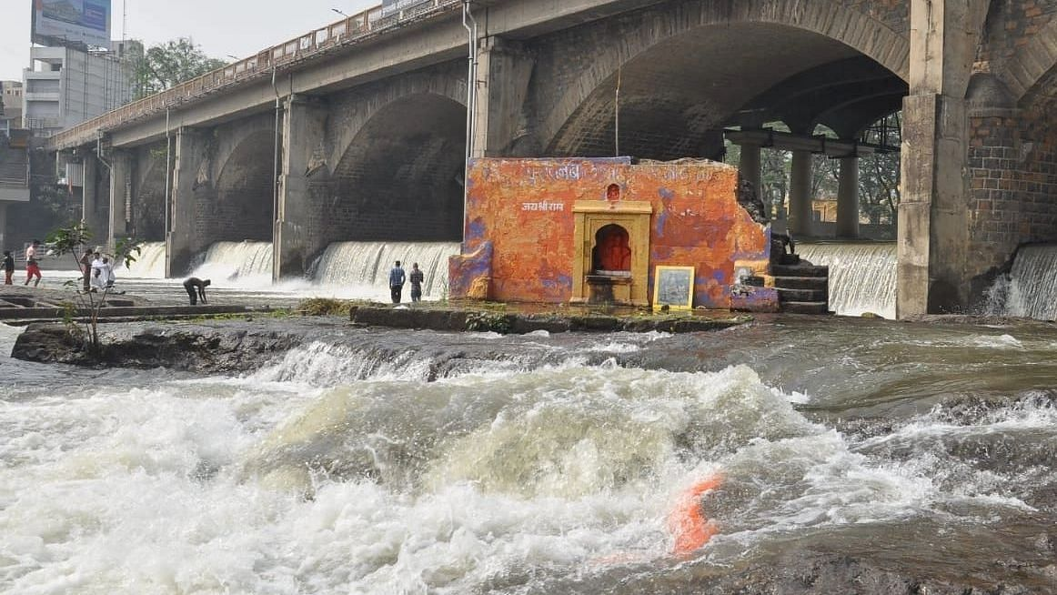 Water discharge from Gangapur dam