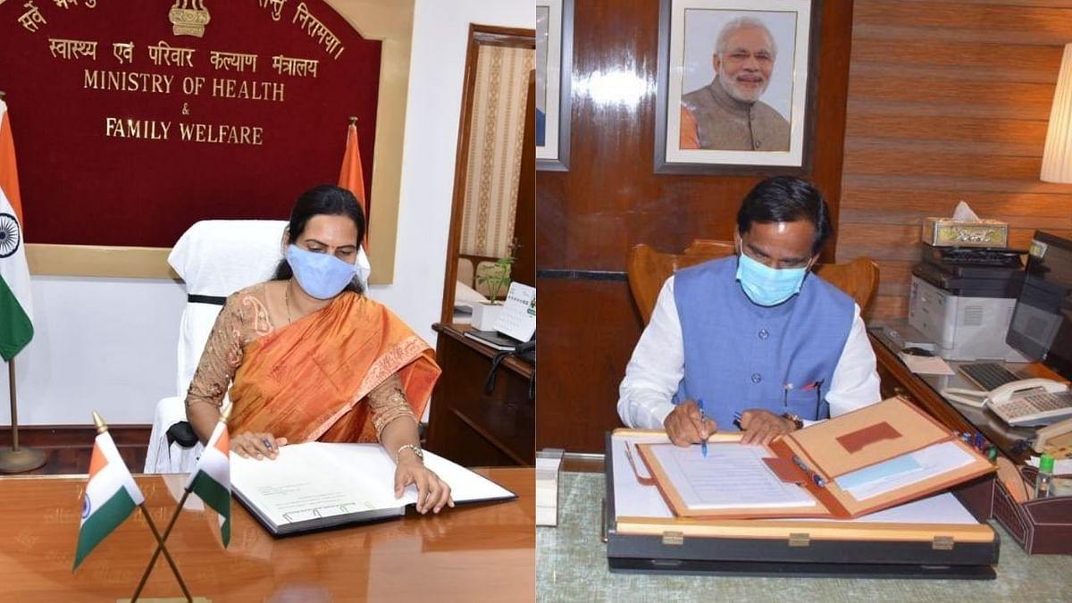Modi New Cabinet : डॉ.भारती पवार, रावसाहेब दानवे यांनी स्वीकारला पदभार, पाहा फोटो